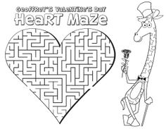 valentine's coloring pages | Toys R Us: FREE Valentine's Activity Book
