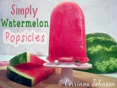 Simply Watermelon Popsicles #summer #recipes #zoku