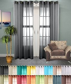Best Sheer Grommet Window Curtains Panels for Bedroom, Li…