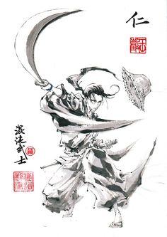 Samurai Champloo – Jin – – Best Art images in 2019 Whyt Manga, Samurai Artwork, Rurouni Kenshin, Japanese Calligraphy, Cowboy Bebop, Katana, Linocut Prints, Japanese Art, Concept Art
