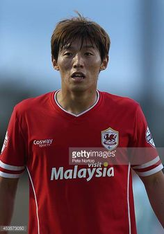 Kim BoKyung of Cardiff City in action during the Capital One Cup First Round match between Coventry City and Cardiff City at Sixfields Stadium on. Coventry City, Cardiff City, Capital One, Football Photos, First Round, Sports, Mens Tops, Action, Hs Sports