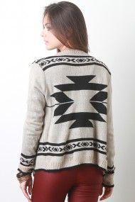 Fringe Tribal Knit Cardigan