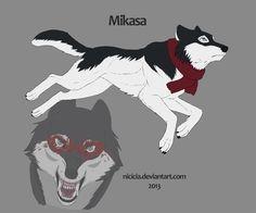 Snk Wolves - Mikasa by Nicicia.deviantart.com on @deviantART