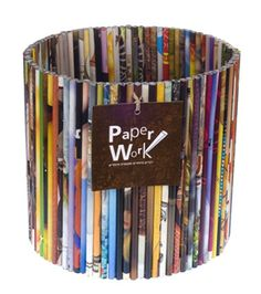 recycling can be beautiful too. check out this waste paper basket made of recycled paper Recycled Magazines, Old Magazines, Recycled Crafts, Recycled Jewelry, Recycled Magazine Crafts, Recycling Storage, Recycling Ideas, Magazine Deco, Magazine Art