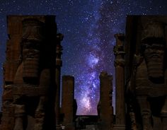 Milky way in Persepolis Shiraz , IRAN  Taken by Bijan Pirzad using wide lense 13 mm, 40 second exposure,Canon EOS-400D . (via Astronomy Magazine)