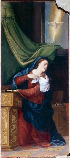 Vergine dell'Annunciazione  di Bonifacio de' Pitati  Siècle: XVI°  nella Chiesa de Saint Alvise a Venezia
