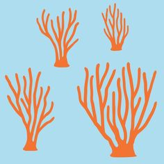Sea Coral Wall Decals Fish Ocean Wall Decals for Nursery Baby Children. $20.00, via Etsy.