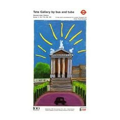Tube poster for Tate Gallery by David Hockney