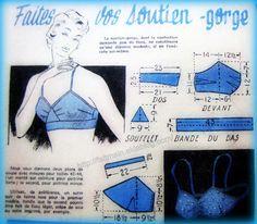 patron couture soutien gorge
