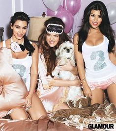 The girls Kardashian