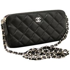 Chanel Wallet On Chain WOC Double Zip Chain Black Shoulder Bag