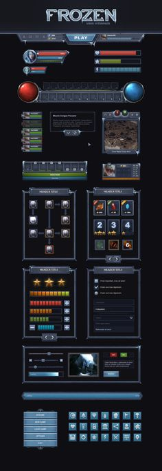 Frozen UI by Evil-S.deviantart.com on @deviantART