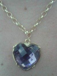 Colar coração ametista  www.jobijoias.com.br
