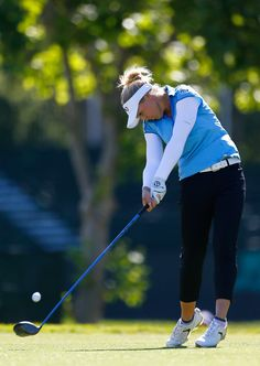 Brooke Henderson of Canada tees off on the 9th hole during the final round of the U.S. Women's Open at CordeValle Golf Club on July 10, 2016 in San Martin, California.