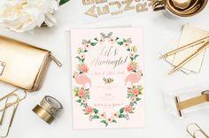 Bachelorette Party Flamingo Tropical Let's by blushprintables