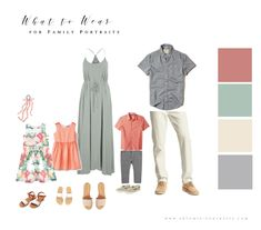What to Wear for Family Portraits (Updated!) Perfect outfits for spring, summer or beach family photos! What to Wear for Family Portraits (Updated!) Perfect outfits for spring, summer or beach family photos! Casual Family Photos, Fall Family Photo Outfits, Spring Family Pictures, Family Portrait Outfits, Family Pictures What To Wear, Family Picture Colors, Beach Picture Outfits, Winter Family Photos, Large Family Photos
