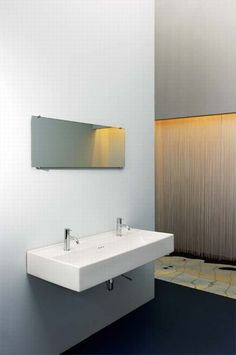 Lavabo doble / de pared KANAL by Berger and Sthal Rapsel Bathroom Lighting, Mirror, Furniture, Home Decor, Google, Image, Double Sinks, Point Of Sale, Mirrors