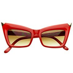 MLC Eyewear Ivory Cat eye Fashion Sunglasses in Red *** You can get additional details at the image link.Note:It is affiliate link to Amazon.