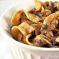 """Tastes like cozy"" Mushroom Stroganoff"
