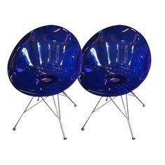 Blue Eros Philippe Starck Kartell Chairs