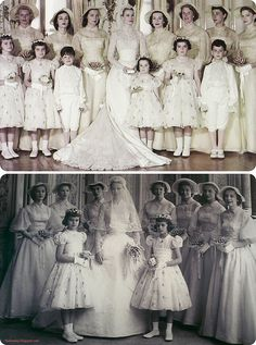 Grace Kelly's Wedding Dress Bridal Party