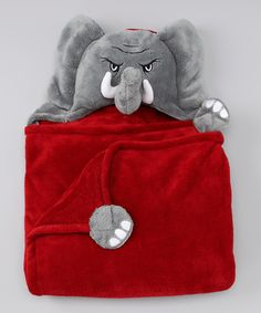 Take a look at this Alabama Crimson Tide Hooded Blanket by MascotWear on #zulily today!