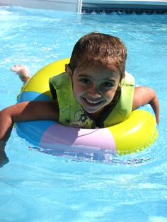 Cousin swimming during the summer