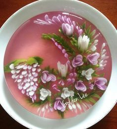 3D jelly flowers cake