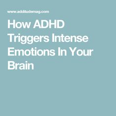 ADHD amplifies everything— angry outbursts, flashes of anxiety, & impatience. If you feel imprisoned by intense emotions, know that a neurological link exists. Adhd Odd, Adhd And Autism, Adhd Facts, Adhd Help, Adhd Brain, Adhd Diet, Adhd Strategies, Attention Deficit Disorder, Brain Health