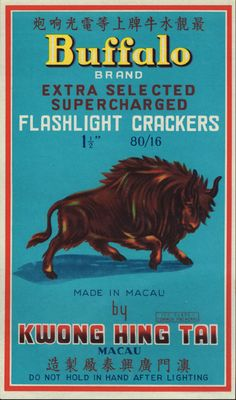 Vintage Chinese firecracker Labels Curated by Michael McHenry
