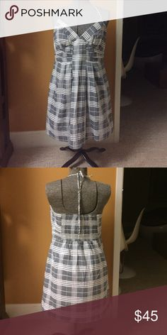 NWT BCBGENERATION Plaid Halter Dress Sz S NWT BCBGENERATION pleated empire halter dress with pockets. Size Small. BCBGeneration Dresses Mini