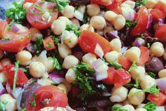Morroccan Chickpea Salad With Cumin & Garlic   VegWeb.com, The World'...