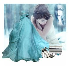 """""""Winter gown"""" by lorrainekeenan ❤ liked on Polyvore featuring Jimmy Choo and Bling Jewelry"""