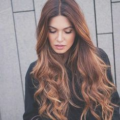 Loving this tiger eye hair color!