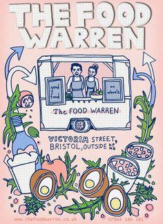 Food Truck Poster by Helena Maratheftis (aka Thefty)