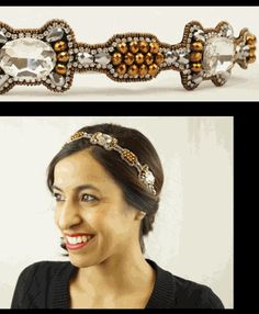 Love the Jules Copper and Crystal fashion stretch headband by Pink Pewter.  Amazing for fall fashion trends 2015!