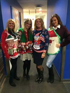 Group shot of our sweaters on Fox & Friends Weekend! For more ugly ...