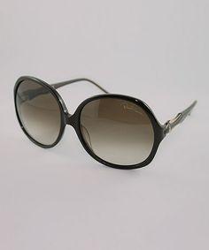 This Black Round Oversize Sunglasses by Roberto Cavalli is perfect! #zulilyfinds