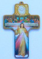 Last Supper Cross Wall Plaque. Crucifixion Of Jesus, Our Lady Of Lourdes, Christian Religions, The Cross Of Christ, Maltese Cross, Last Supper, Blessed Virgin Mary, Wall Crosses, Holy Family