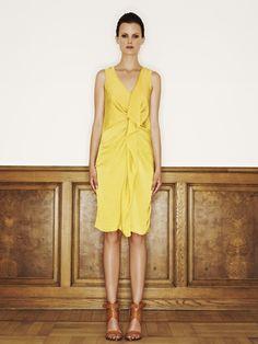 Rützou polyester dress in electric yellow