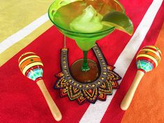 We're getting the fiesta started around HQ with a margarita on the rocks and our Saffron Spirited bold and bright necklace Margarita On The Rocks, Fun Cocktails, Spirit, Bright, Tableware, Fiestas, Dinnerware, Tablewares, Dishes