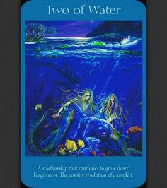 ~Two of Water card from Angel Tarot Cards by Doreen Virtue and Radleigh Valentine~
