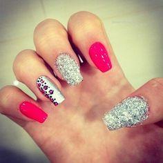 #pink #glitter #cheetah