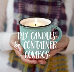We are loving this DIY candle project! Check out the incredible scent and container combos they've come up with too!