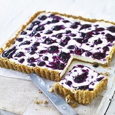 Lavender and blueberry cheesecake