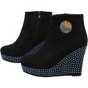 Cuce Shoes Golden State Warriors Ladies Rookie Wedge Boots - Black