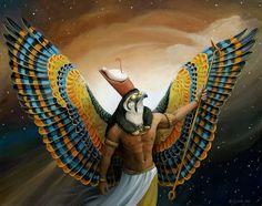 """La palabra Horus es una latinización del término griego Horos utilizado para designar al dios egipcio Hor  (H.r) que significa """"el lejano"""", """"el elevado"""", en una muy clara asociación con el halcón que tiene consagrado y representa."""