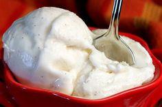 Vanilla Bean Ice Cream Recipe Desserts with cream cheese, fine sea salt, whole milk, corn starch, heavy cream, sugar, light corn syrup, vanilla beans, vanilla extract