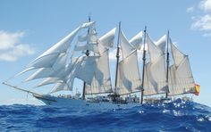 [3550 x 2224] Sail Training nave el sábado. de España Juan Sebastián Elcano. 2 millones de millas navegaban, y contando.