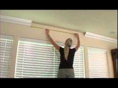 Foam Crown Molding makes it easy! - YouTube